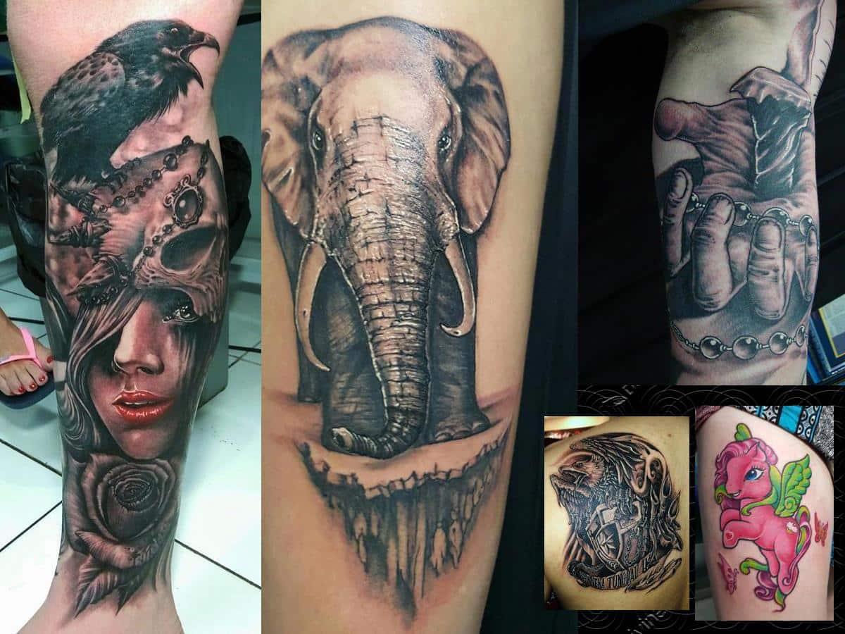 various tattoes