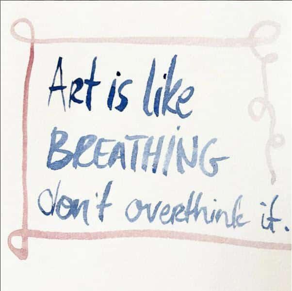 art is like breathing by Katerina Lanfranco