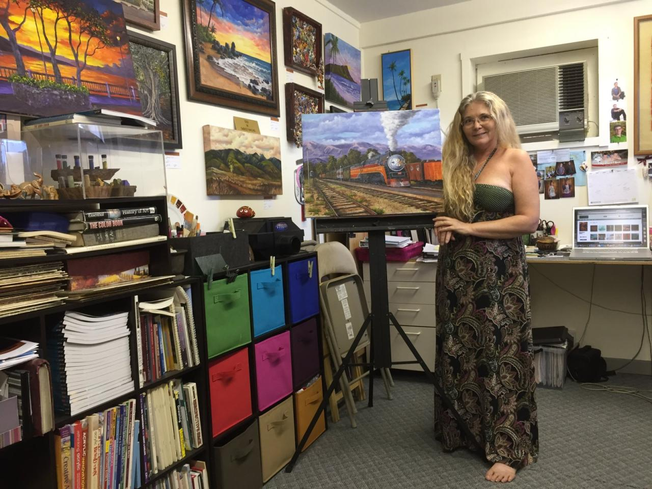 Hawaiian Painter Darice Machel McGuire in her studio