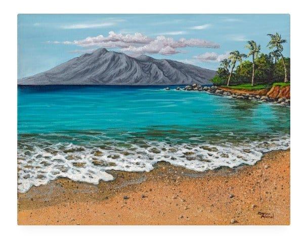 Sandy Beach by Hawaiian Painter Darice Machel McGuire