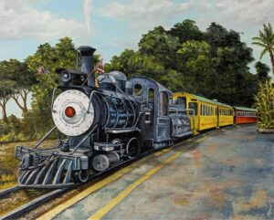 Sugar Cane Train by Hawaiian Painter Darice Machel McGuire