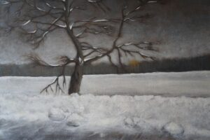Roadside tree in winter by Liene Haruta