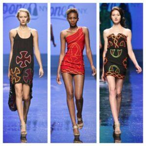 Fashion designer Kibonen Nfi from Cameroon