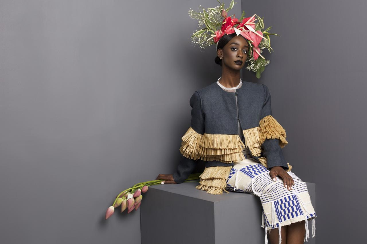 Fashion designer Loza Maléombho from Ivory Coast