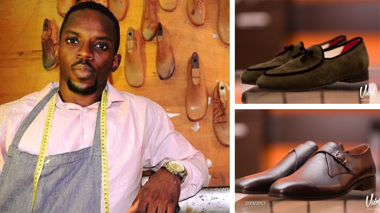 Shoe designer Vidal Kenmoe