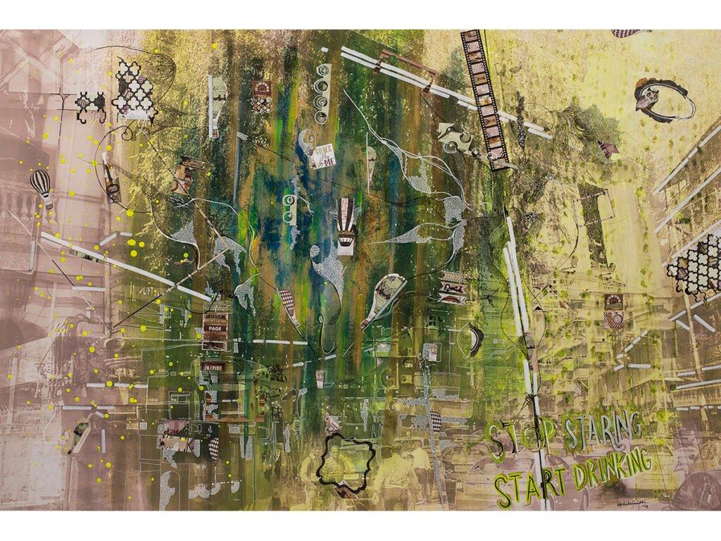 Dream, mixed media on canvas, by Painter Akshita Gandhi