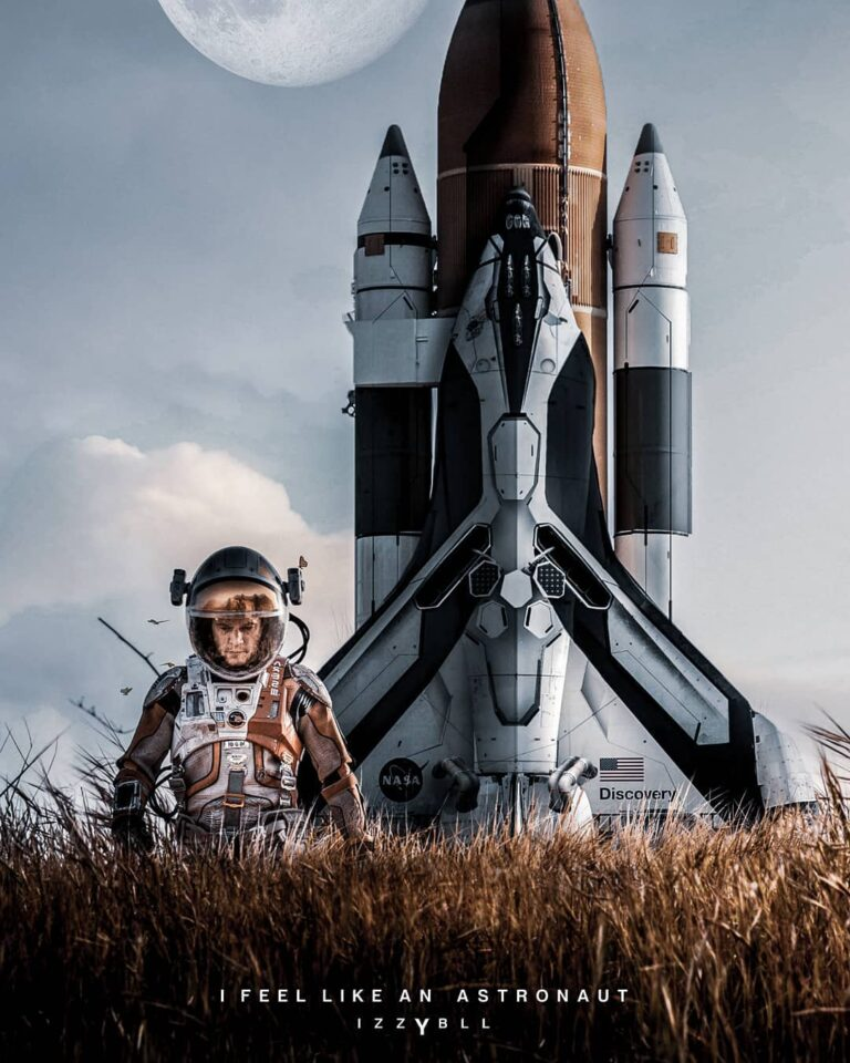 I feel like an Astronaut by Digital Artist Israel Benloulou called Izybll