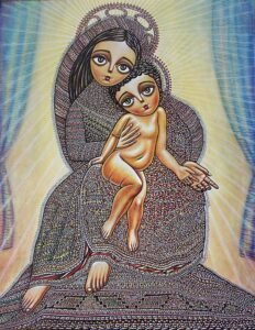 Madonna and the child by Armenian Painter Sevada Grigoryan